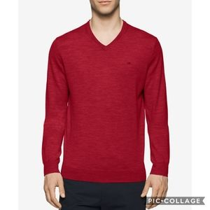 Calvin Klein Merino Wool V-Neck Sweater